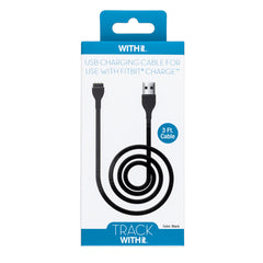 3 Foot Charging Cable for Fitbit® Charge™ by WITHit  - Black