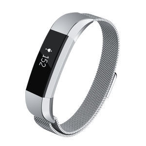 Designer Mesh Band for Fitbit Alta & Alta HR by WITHit in Silver