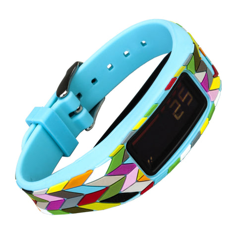 French Bull Designer Band for Garmin Vivofit 2 - Condensed Ziggy