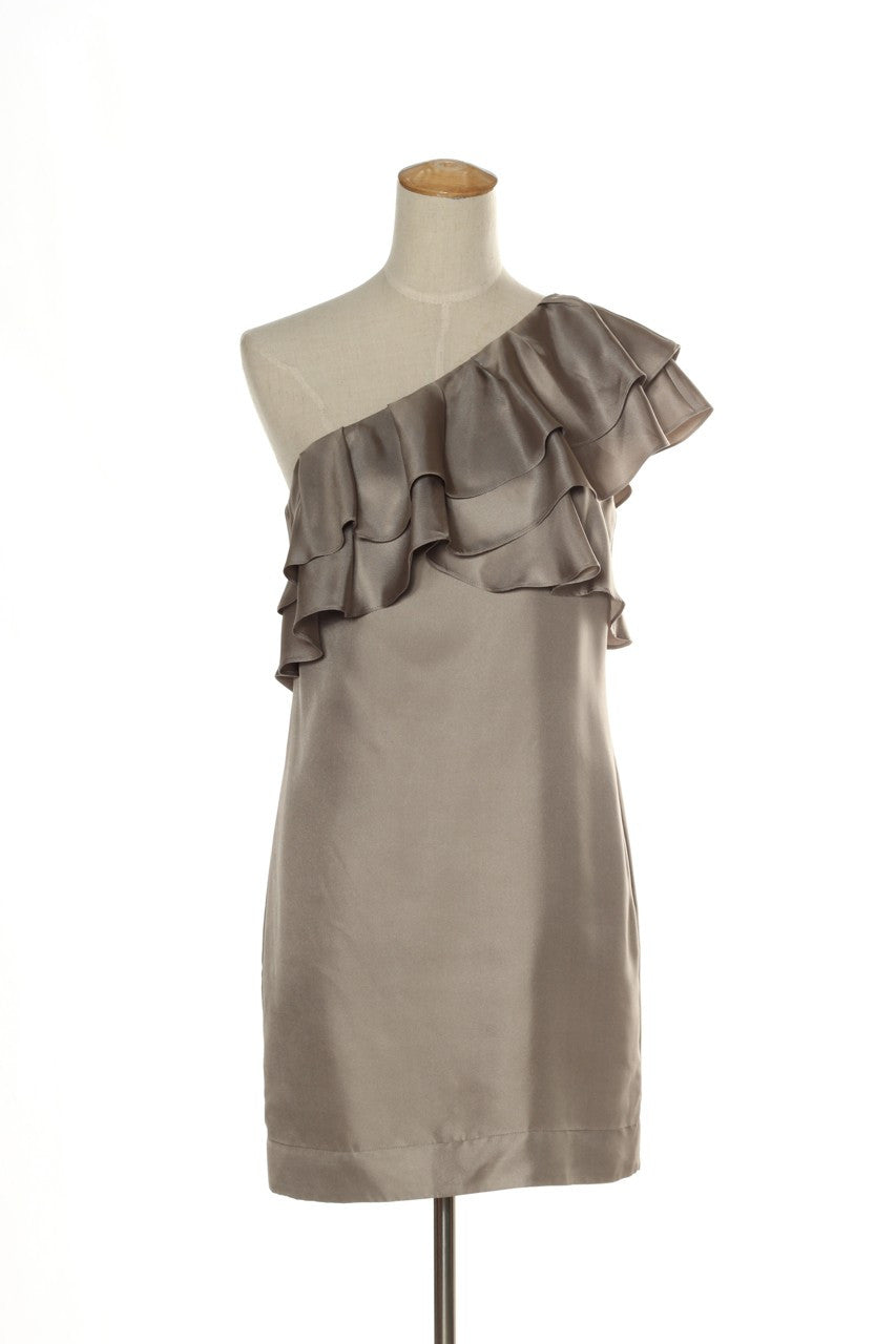 BANANA REPUBLIC - BN Silk ruffle one shoulder dress! 8 | Recycle ...
