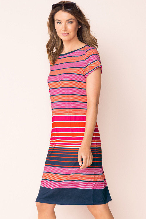 de820a07af4 CAPTURE - Knit tee stripe dress! 14