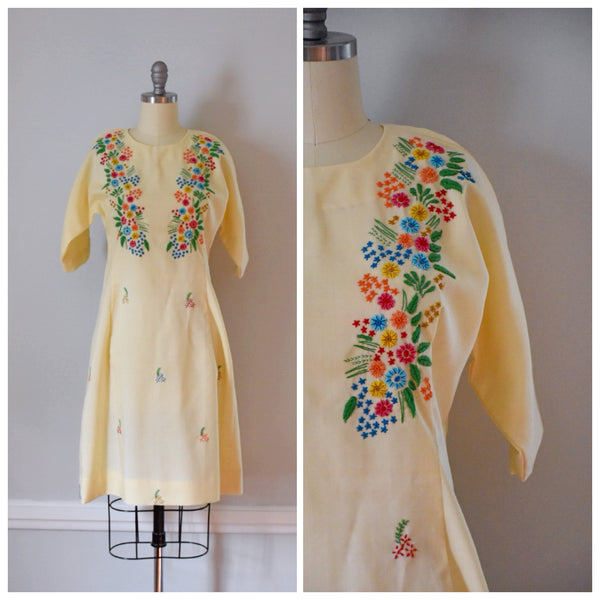 60s Vintage Embroidered Dress