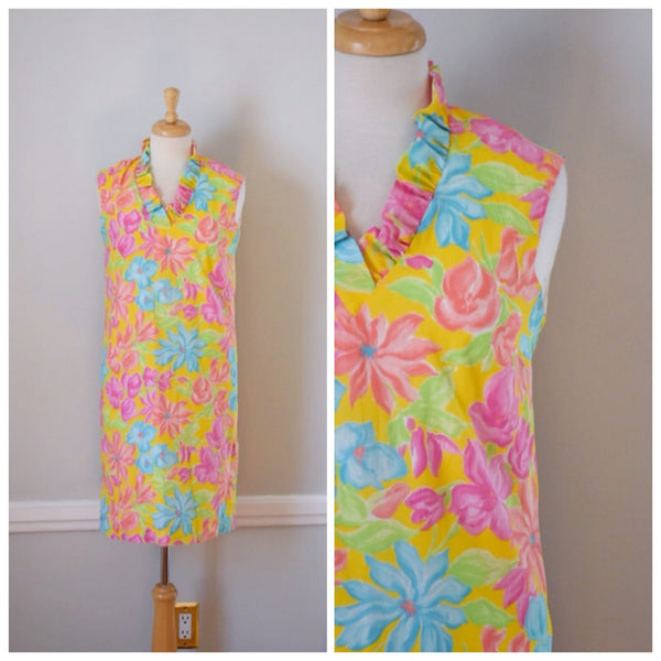 60s Vintage Hawaiian Shift Dress