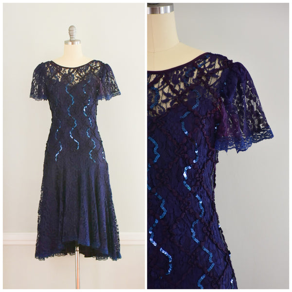 80s High Low Lace Dress from DuncanLovesTess.com