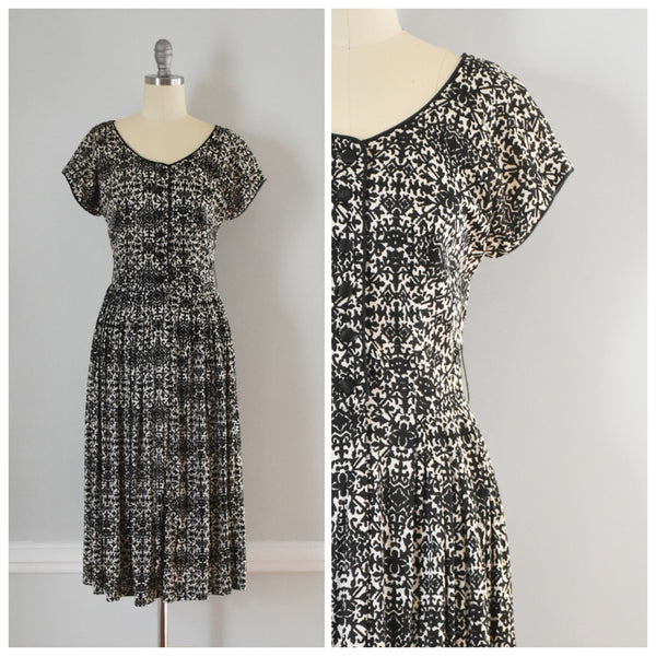 70s Vintage Shirtwaist Day Dress at Duncanlovestess.com