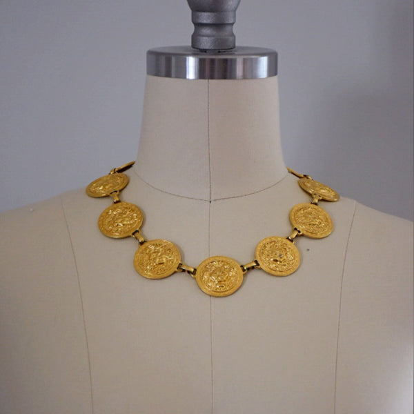 80s Vintage Lion Head Necklace