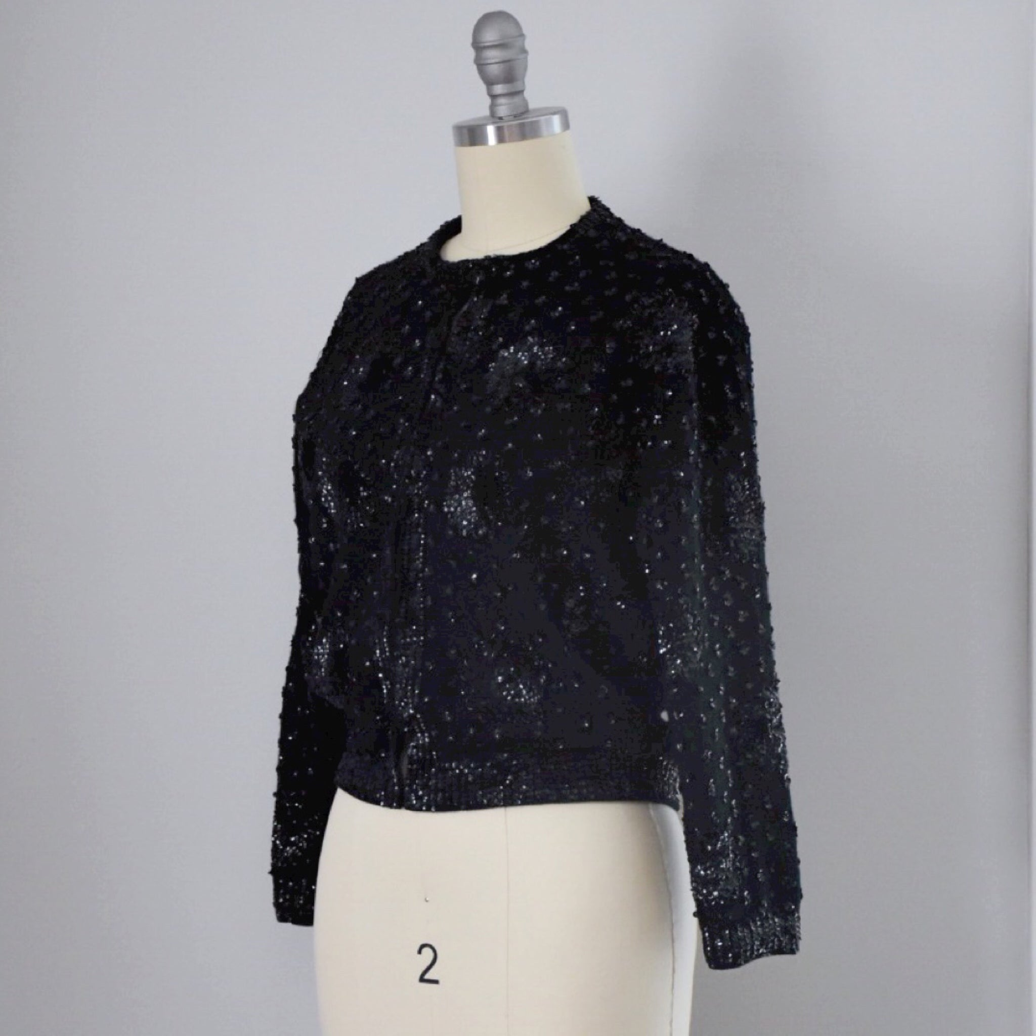 50s 60s Vintage Beaded Sweater