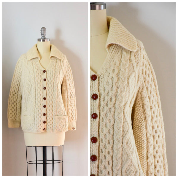 60s Vintage Irish Fisherman's Sweater