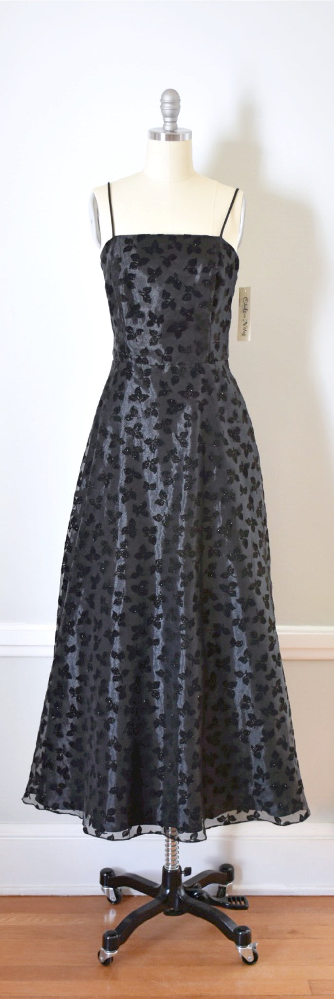 90s Vintage Fit And Flare Formal Dress