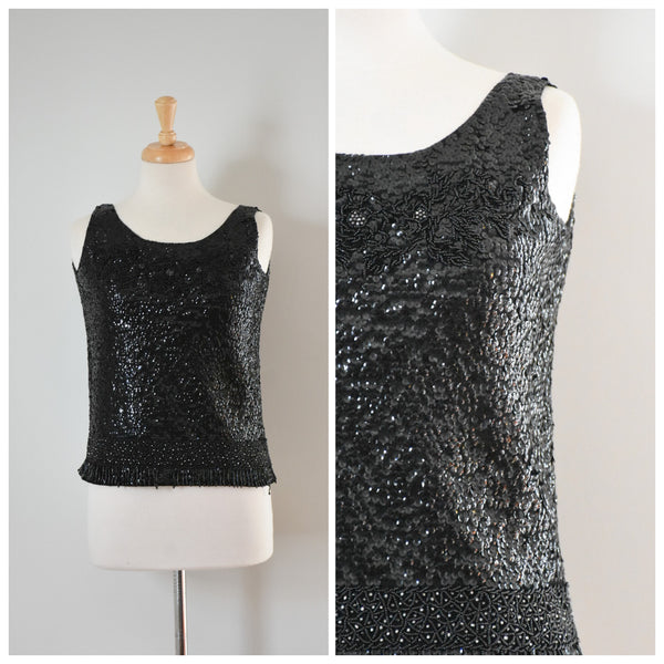 60s Vintage Beaded Top from DuncanLovesTess.com