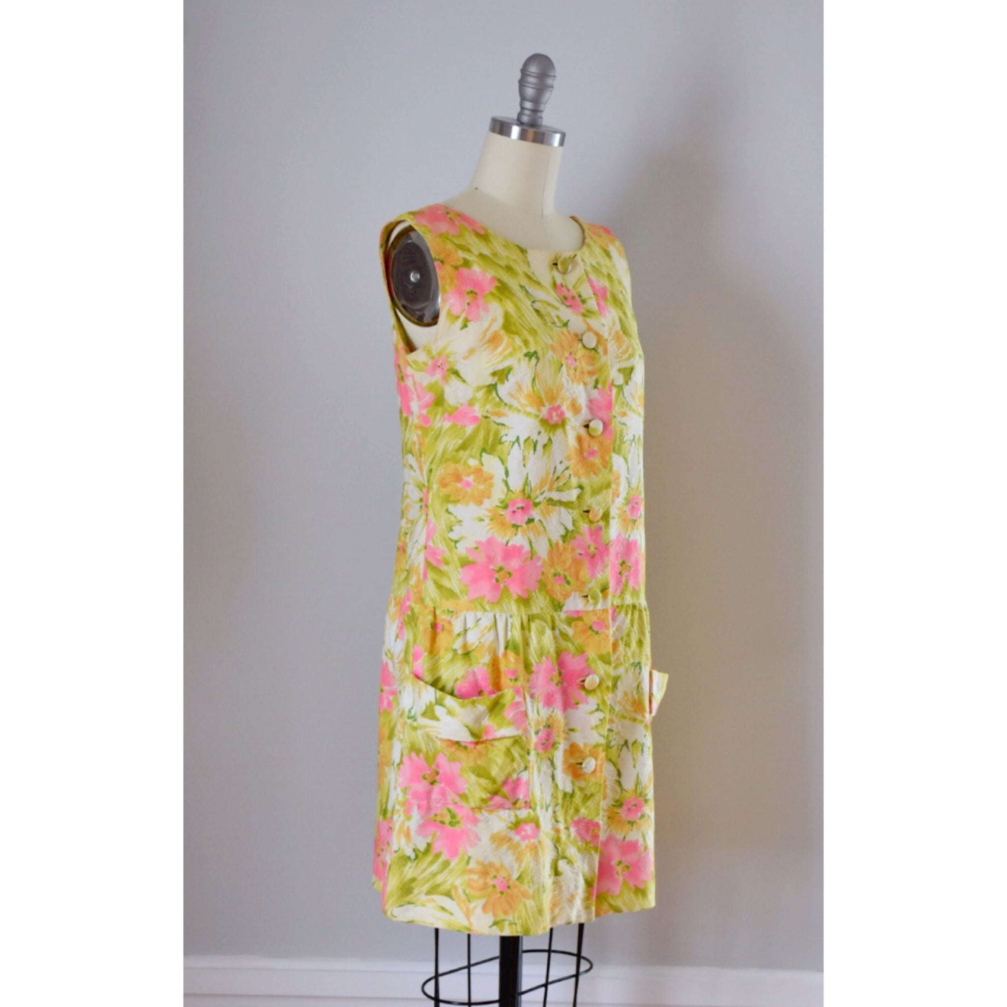 60s Mod Hawaiian Dress