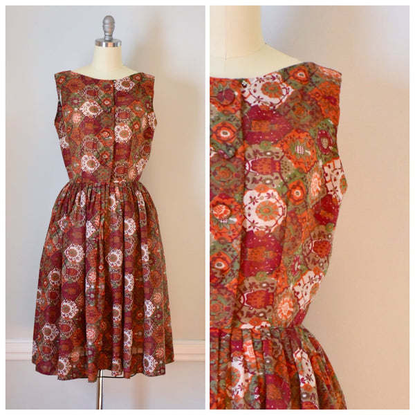 50s Vintage Fit and Flare Dress