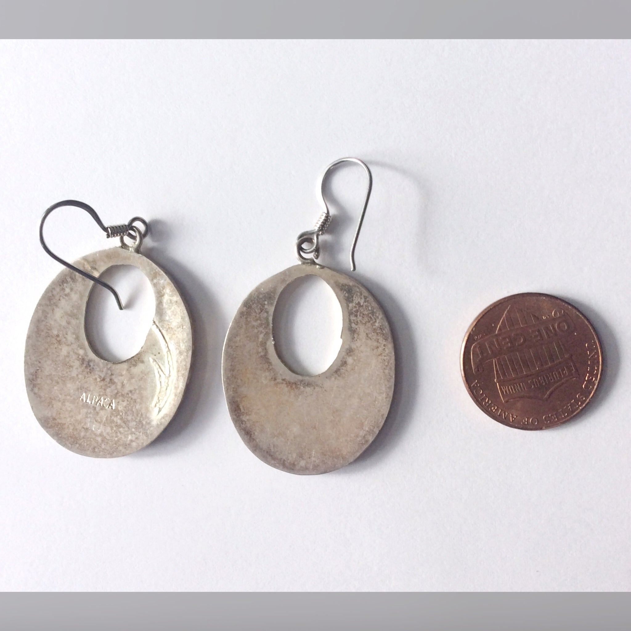Vintage Alpaca Earrings