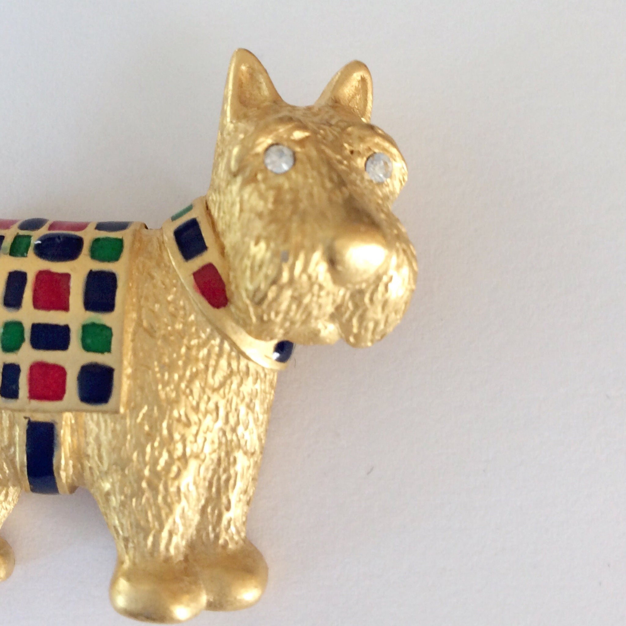 60s Carolee Scottie Dog Pin