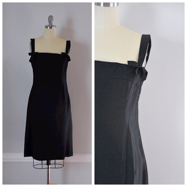 60s Black Sheath Dress