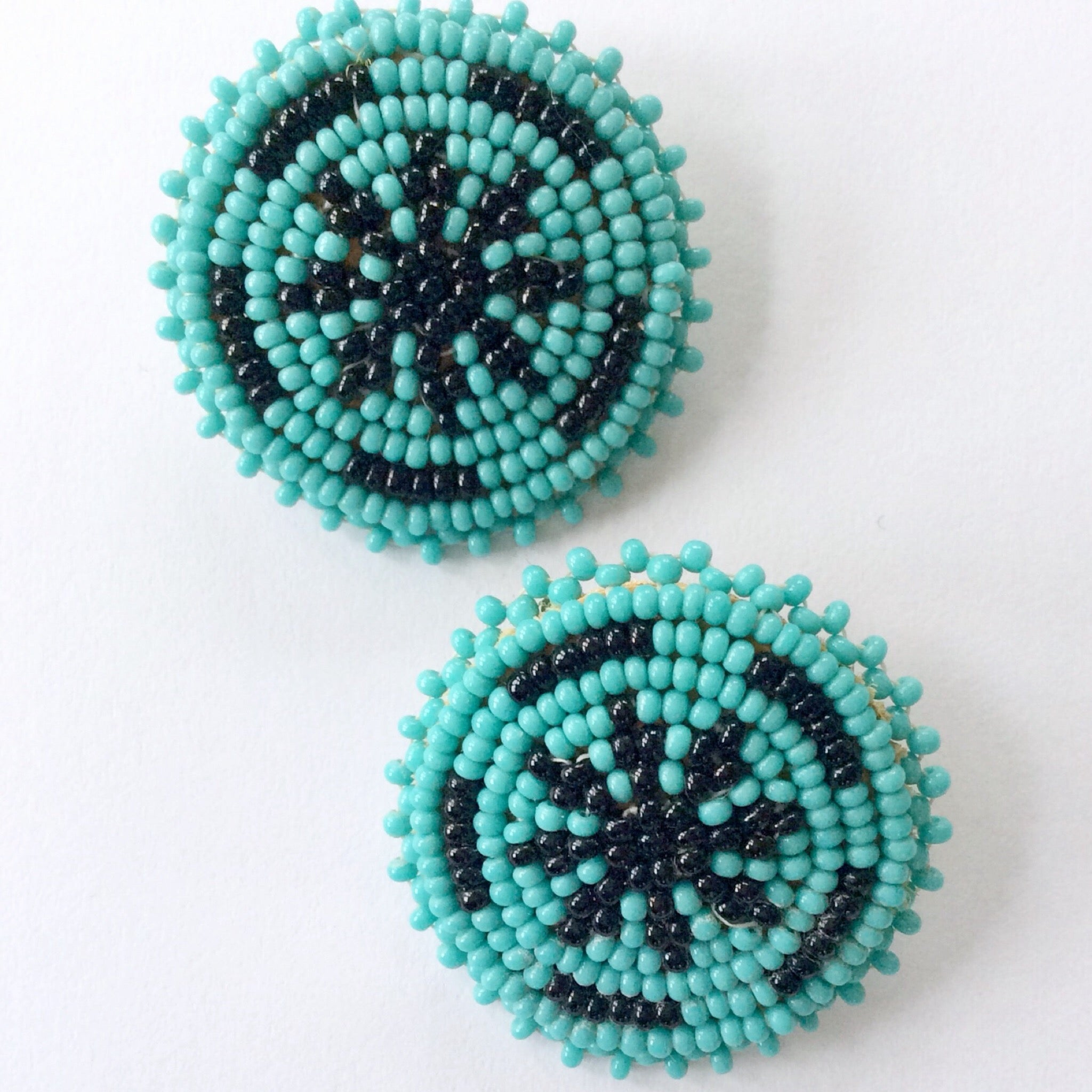 50s Vintage Native American Seed Bead Earrings
