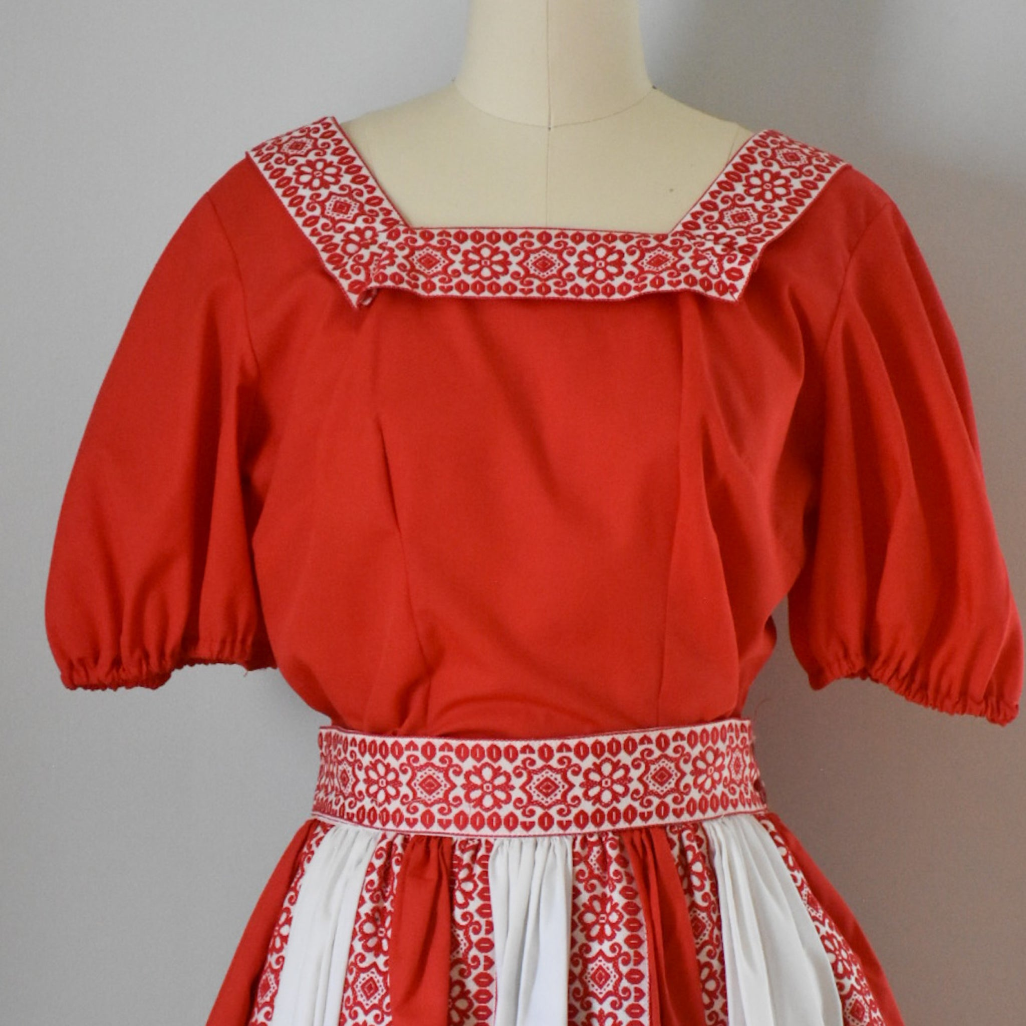 50s Vintage Patio Dress / Skirt and Two Tops