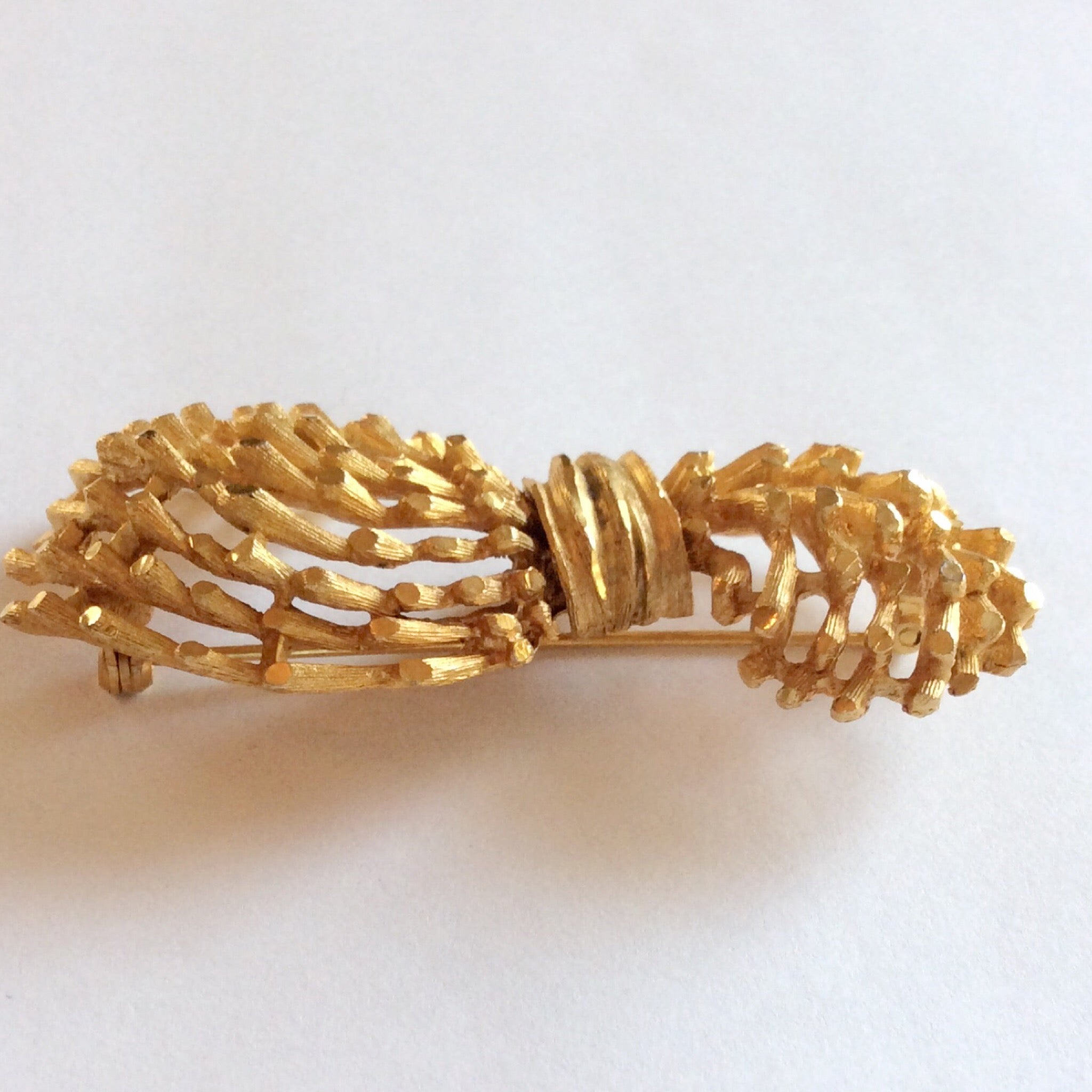 60s Vintage BSK Bamboo Spray Brooch