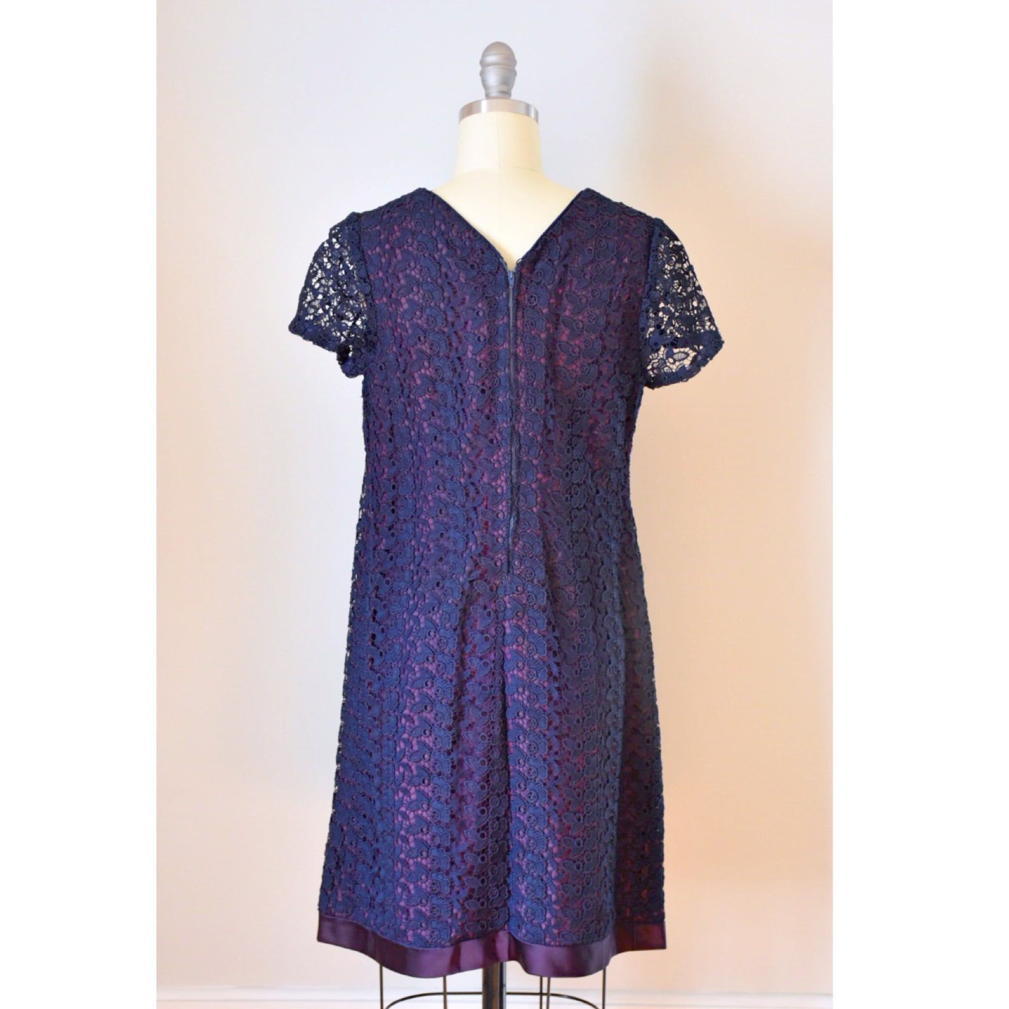 60s Crocheted Lace Dress
