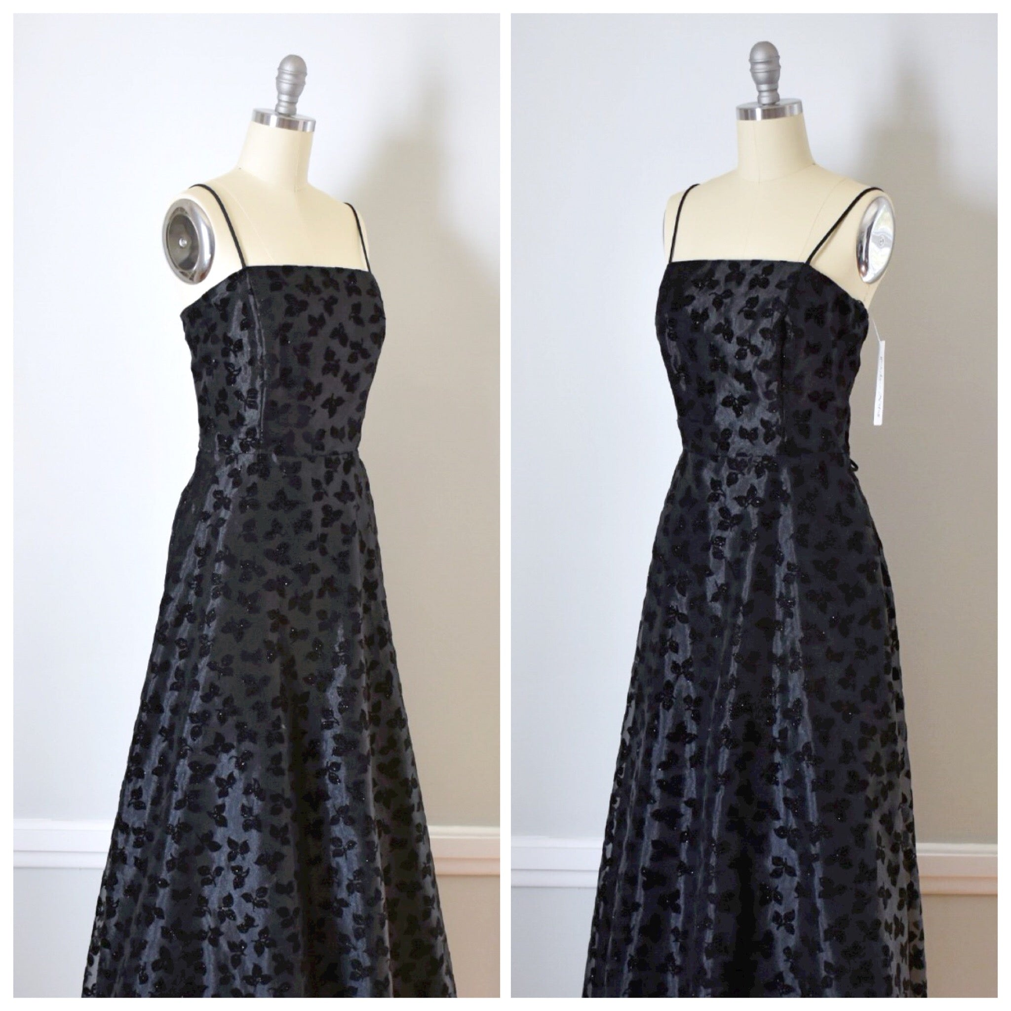 SOLD // 90s Vintage Fit And Flare Formal Dress