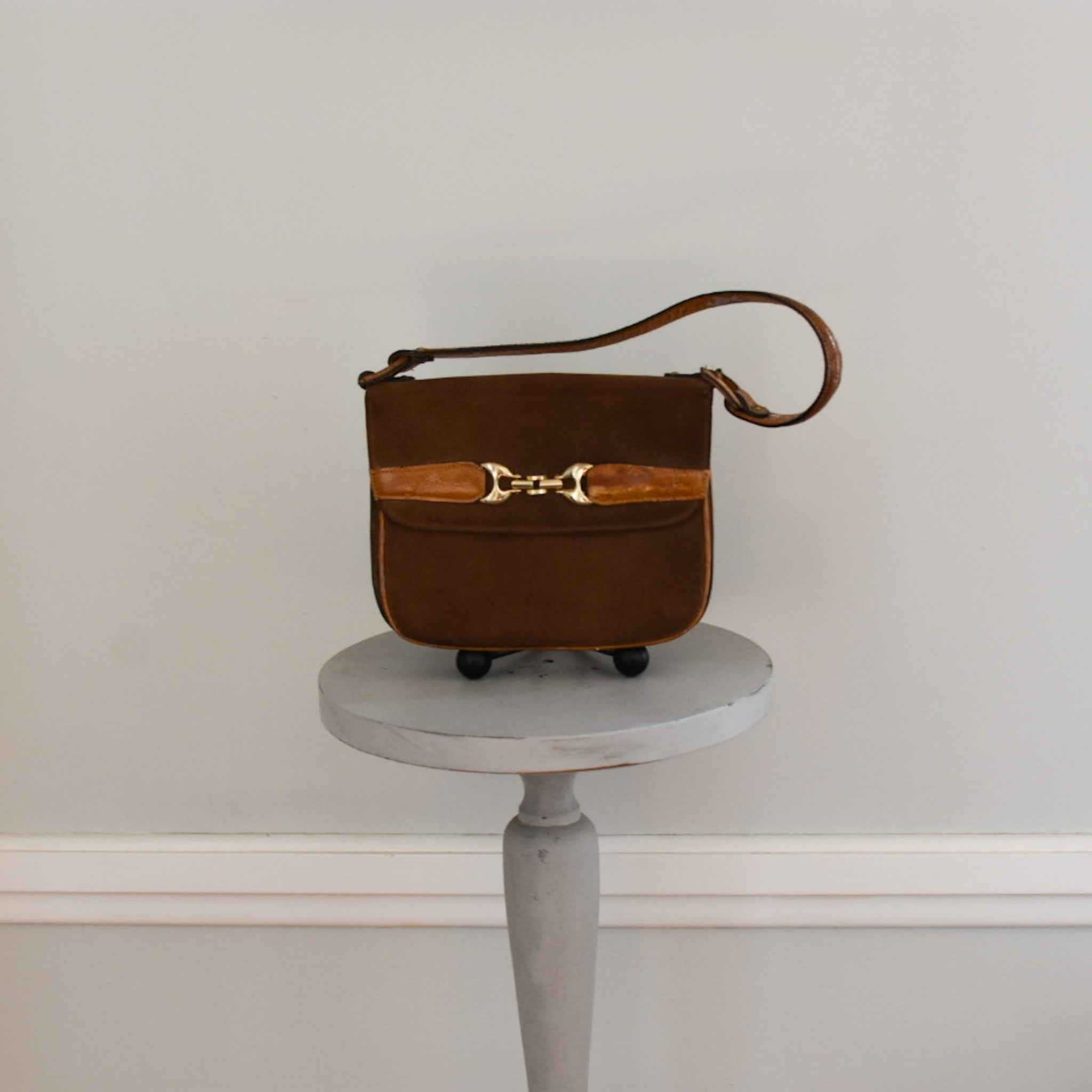 60s Mod Suede Handbag from DuncanLovesTess.com