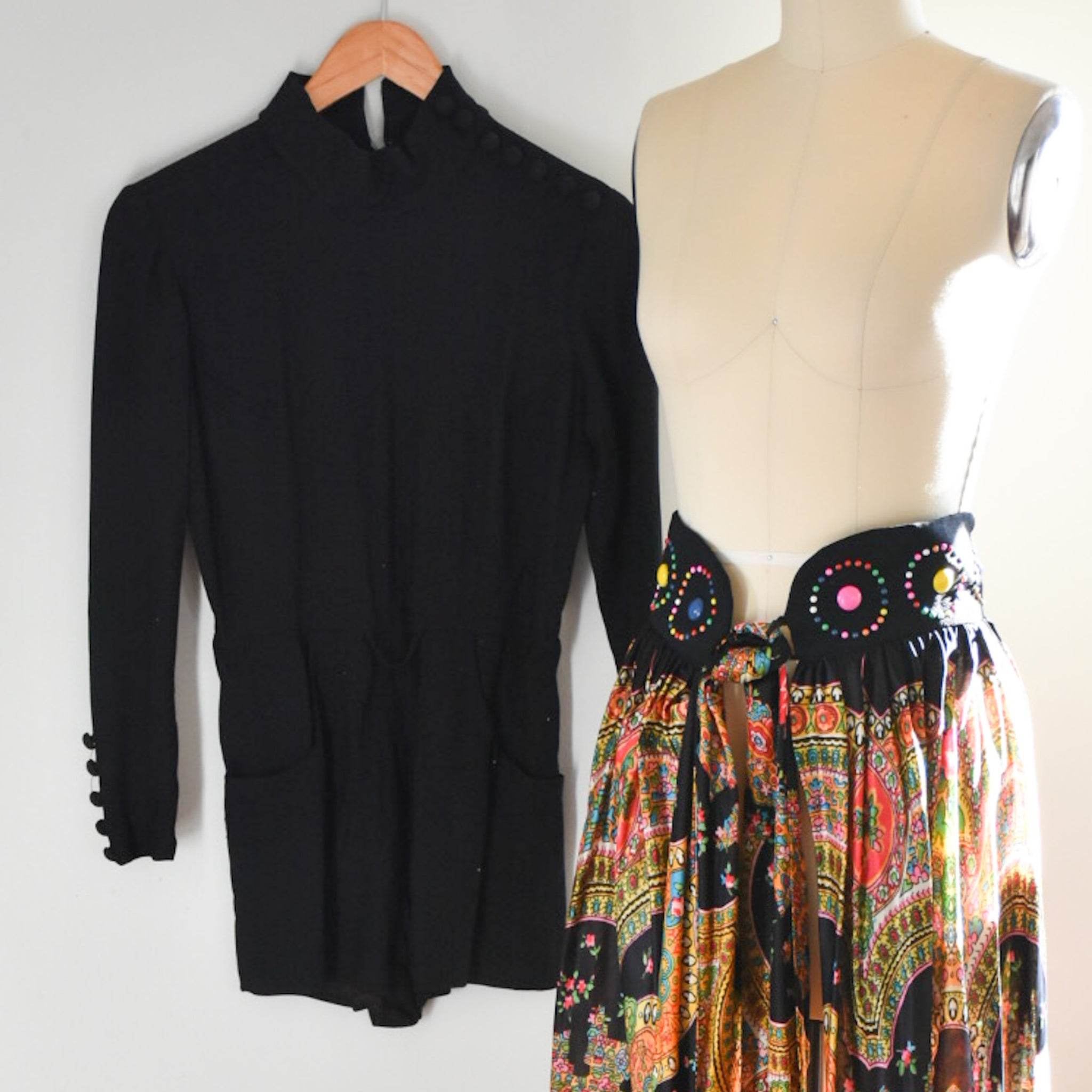 60s / 70s Romper and skirt