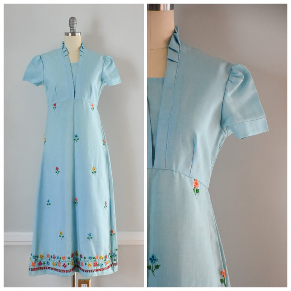 70s Vintage Embroidered Boho Dress at DuncanLovesTess.com