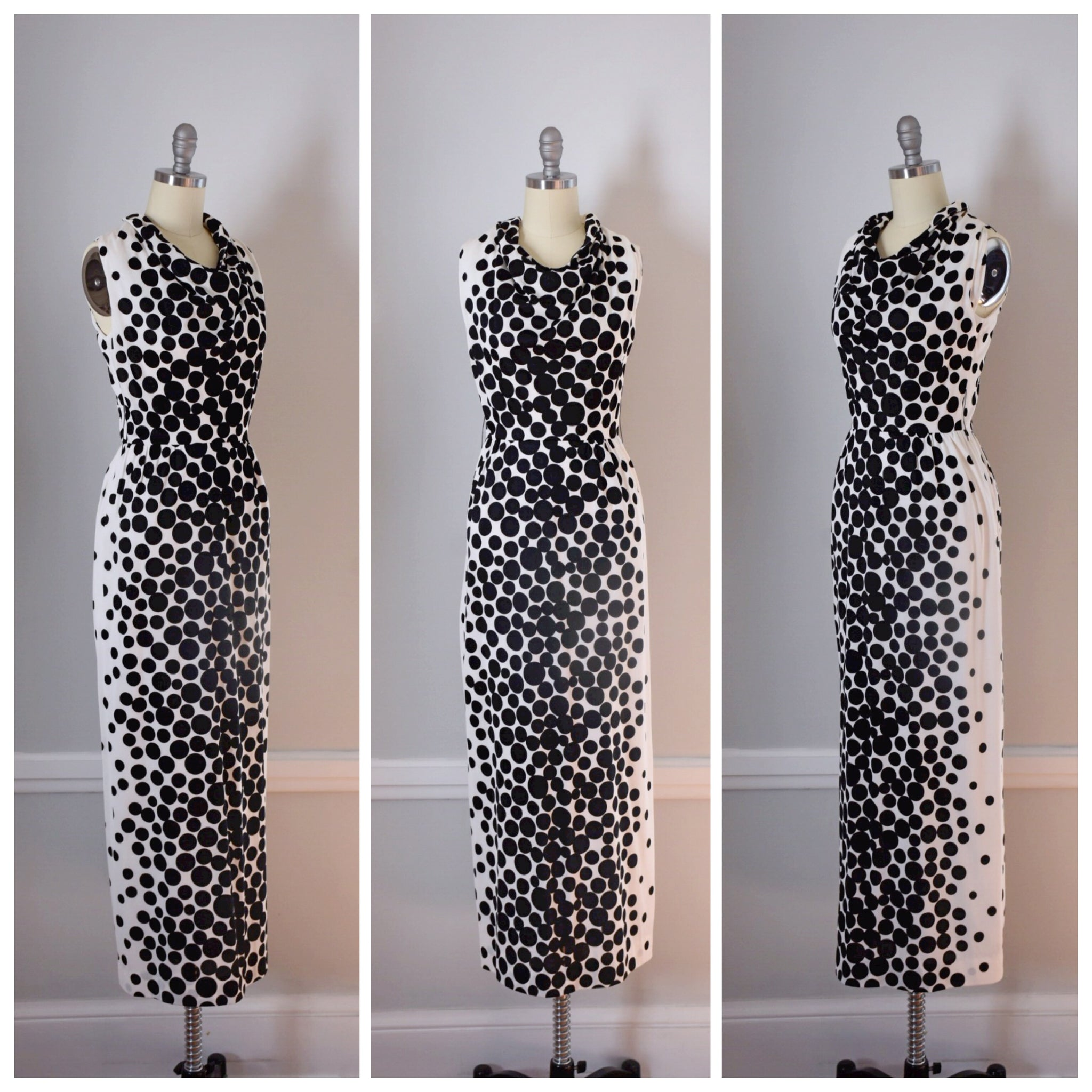 60s Vintage Cowl Neck Dress