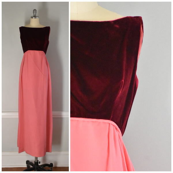 60s Velvet and chiffon formal dress from DuncanLovesTess.com