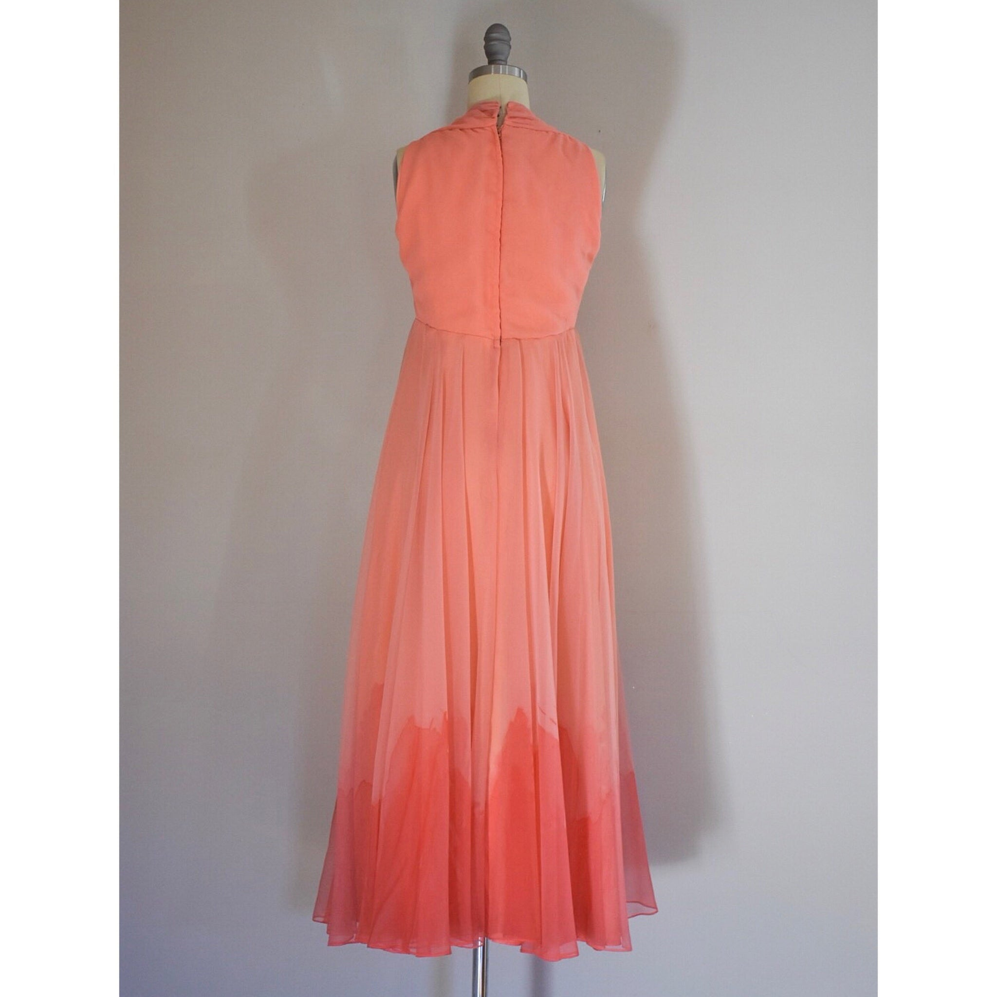 60s Vintage Chiffon Dress