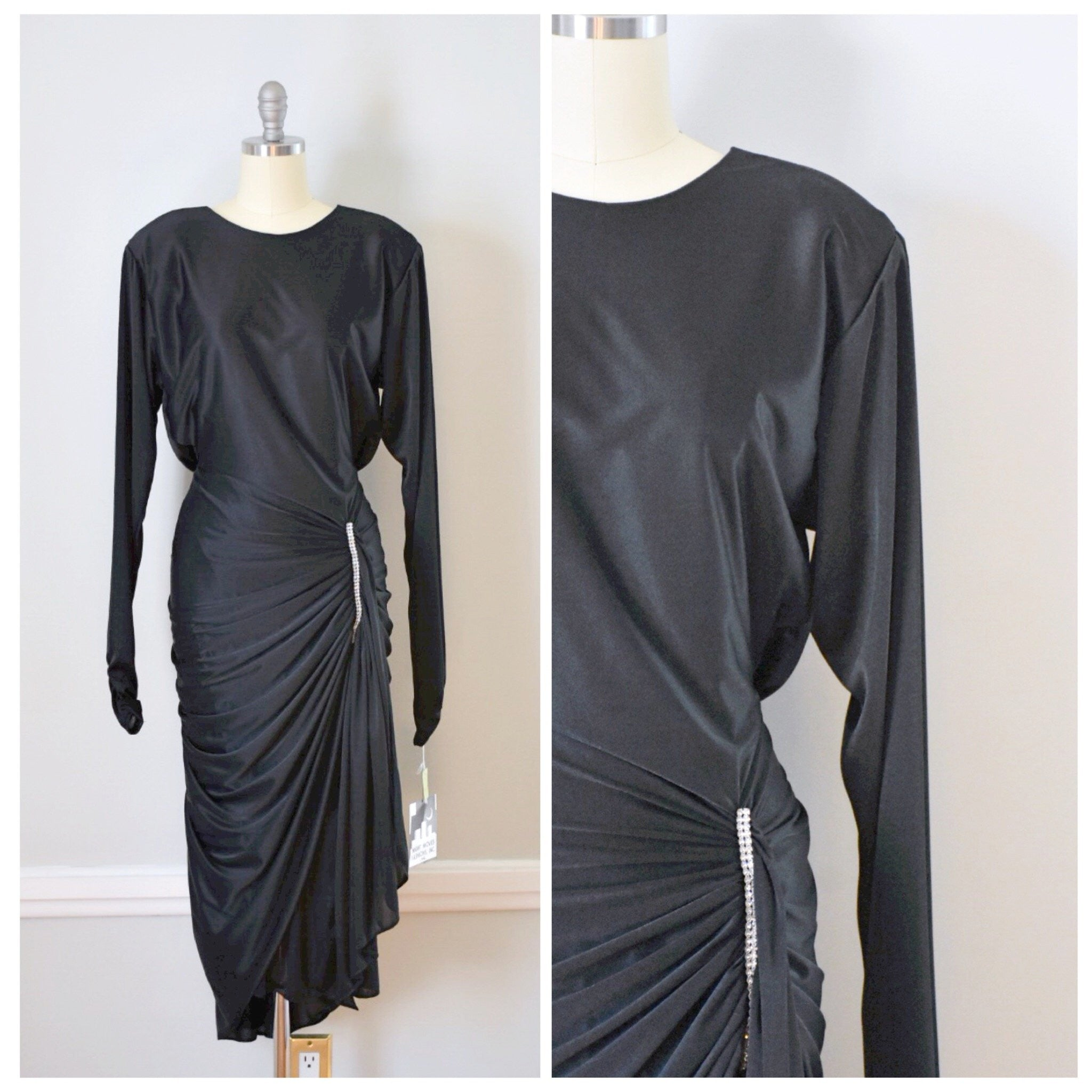 80s Vintage Glam Party Dress