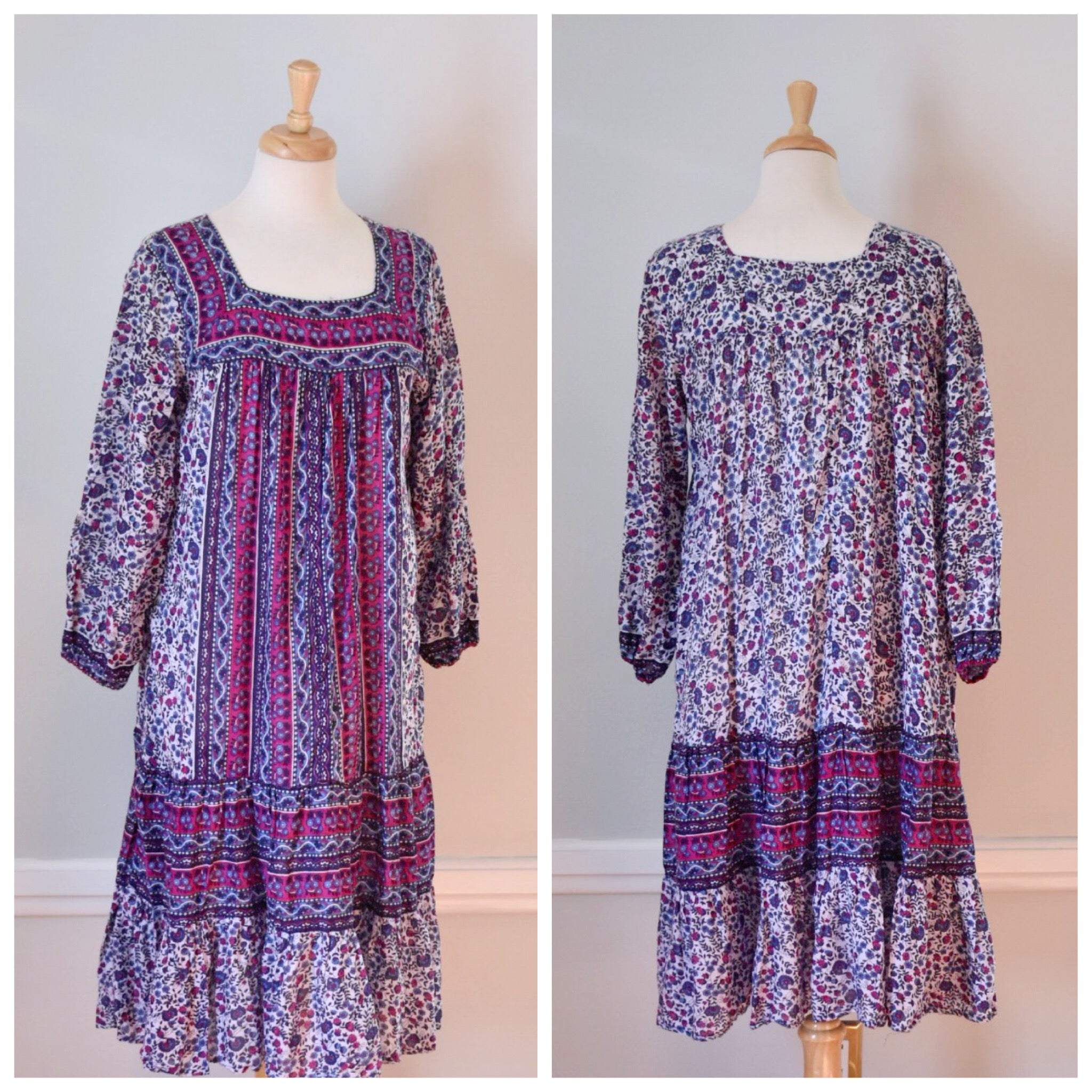 70s India Print Cotton Muu Muu