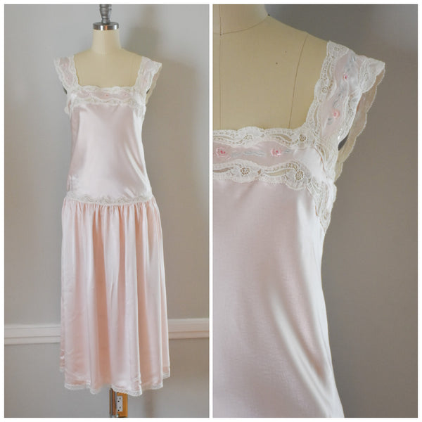 80s Eve Stillman Satin Nightgown from DuncanLovesTess.com