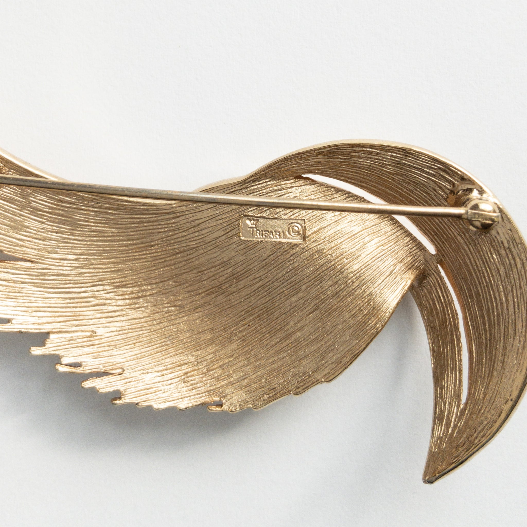 60s Crown Trifari Leaf Brooch