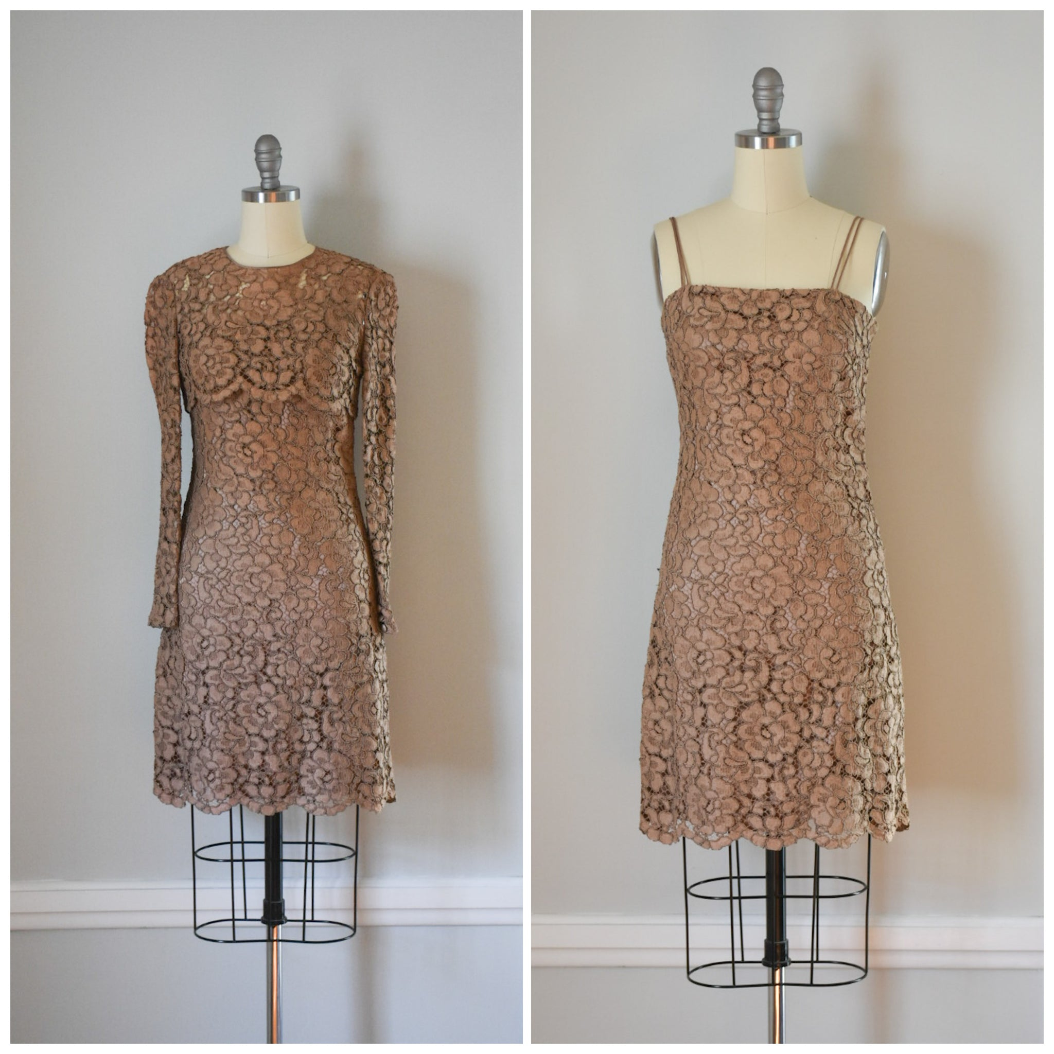 60s / 70s Lace Mini Dress and Bolero from DuncanLovesTess.com