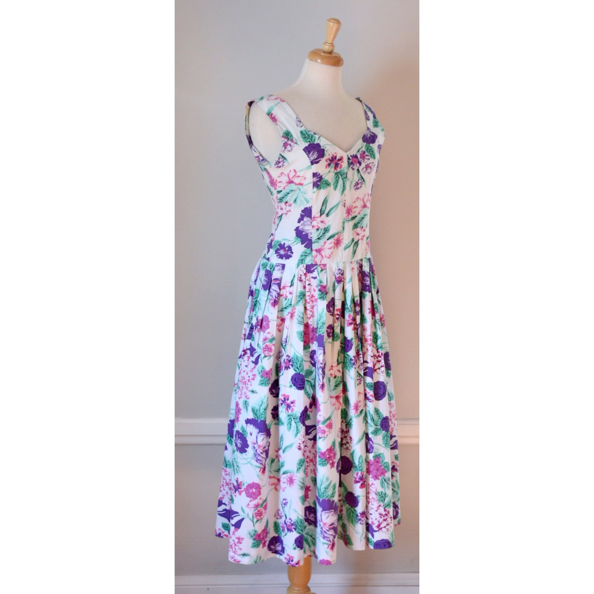 80s Vintage Cotton Dress