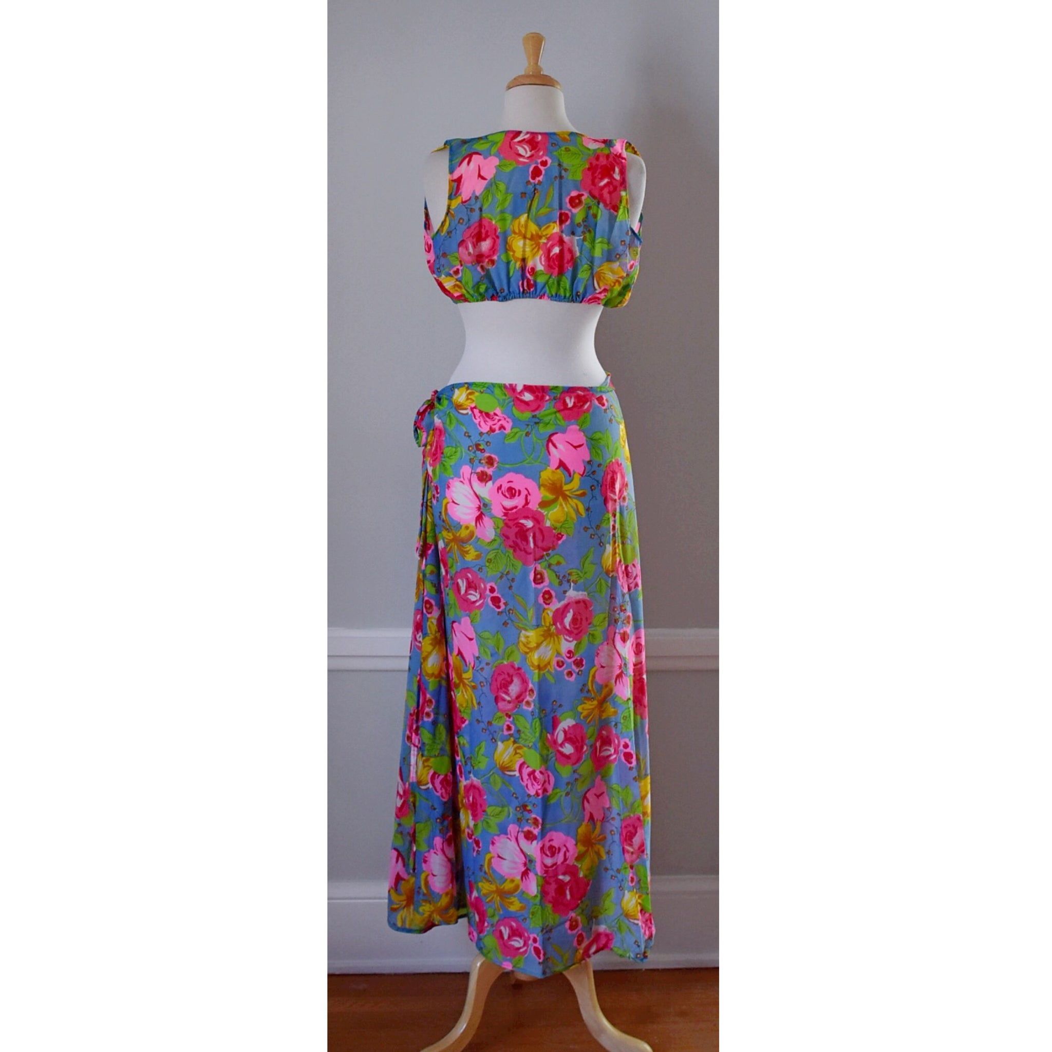 70s Style Boho Top and Skirt