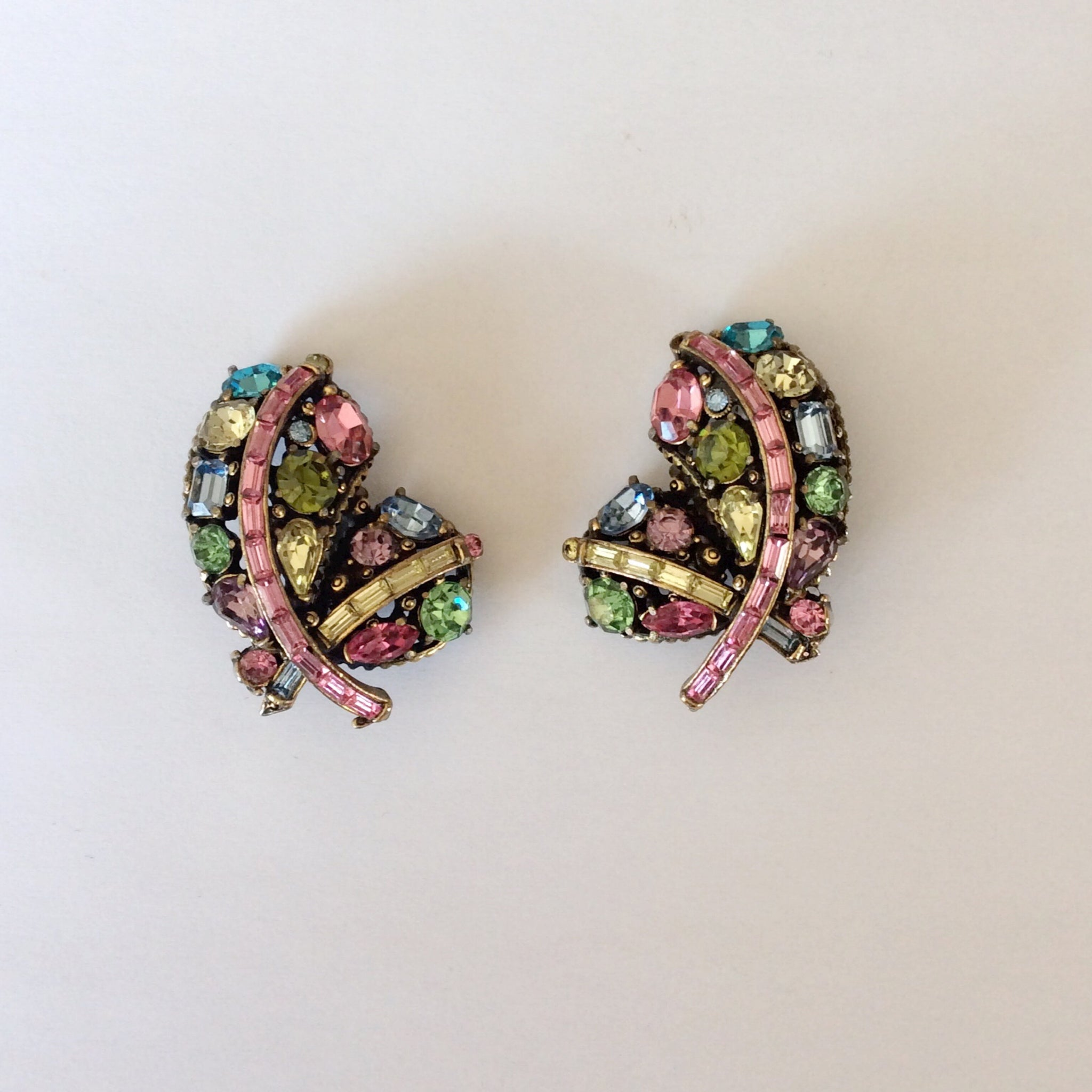 50s Vintage Hollycraft Earrings
