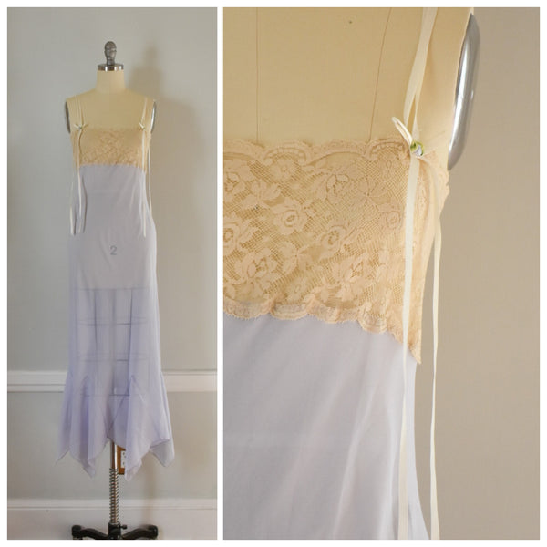 70s Vintage Lavender Lace Nightgown