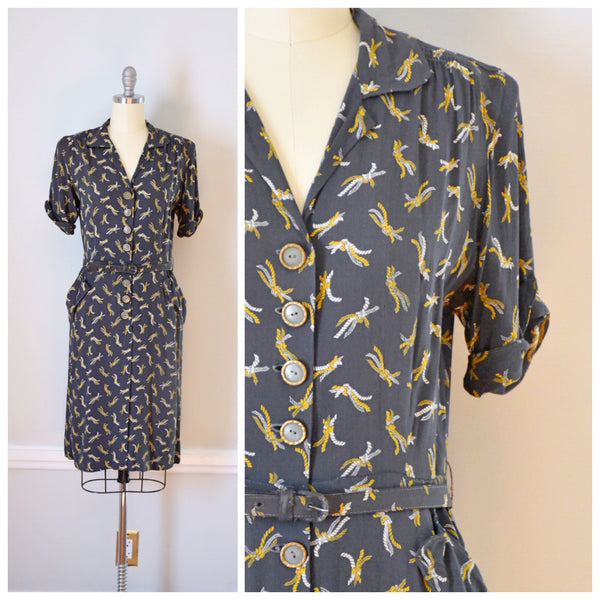 40s Vintage War Era Dress