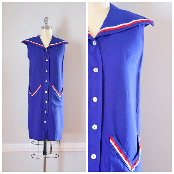 50s Vintage Sailor Dress