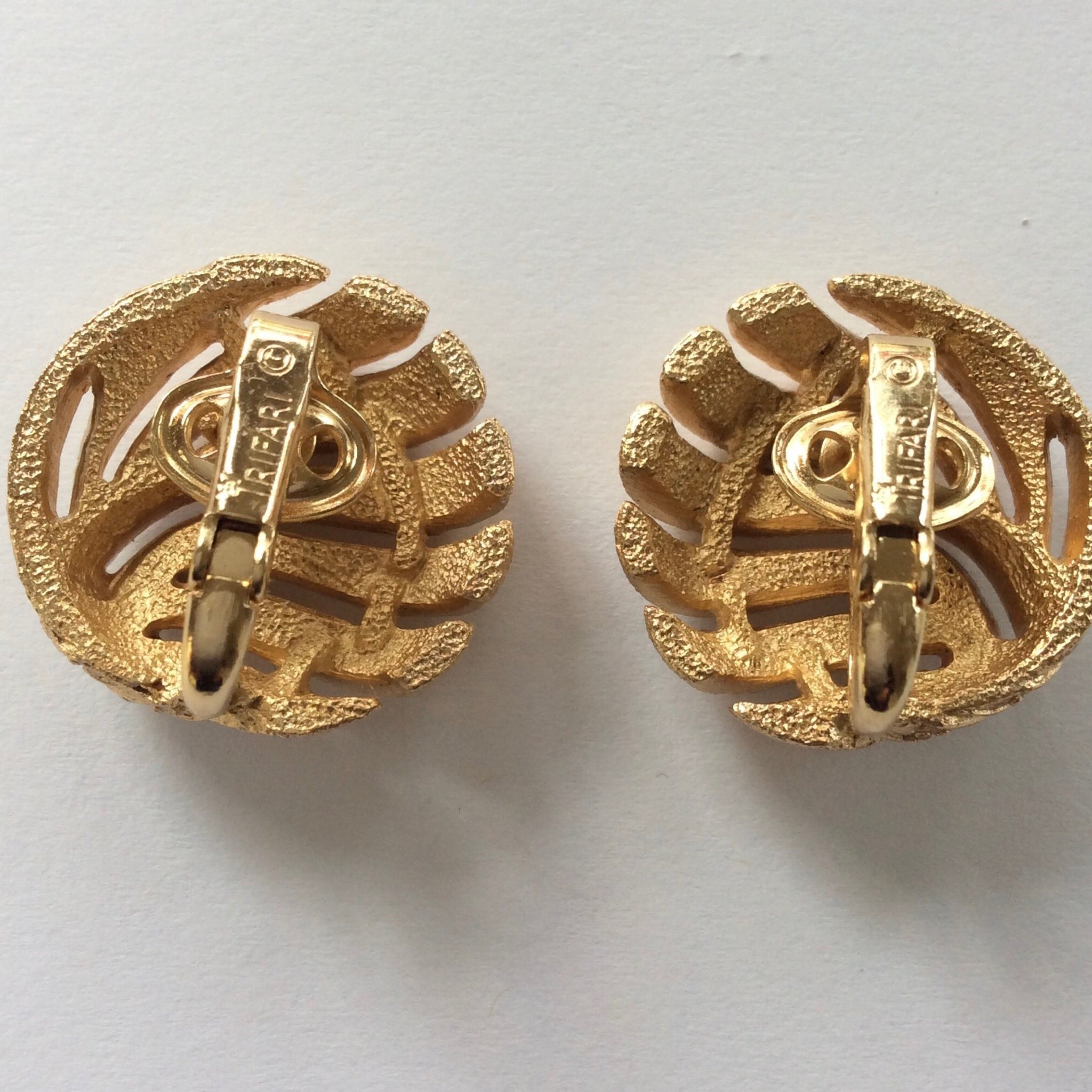 60s Crown Trifari Earrings