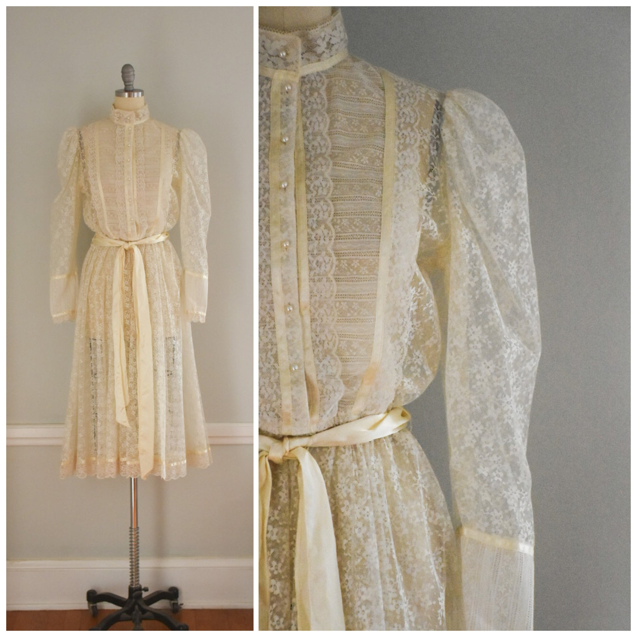 70s Gunne Sax Lace Dress from DuncanLovesTess.com