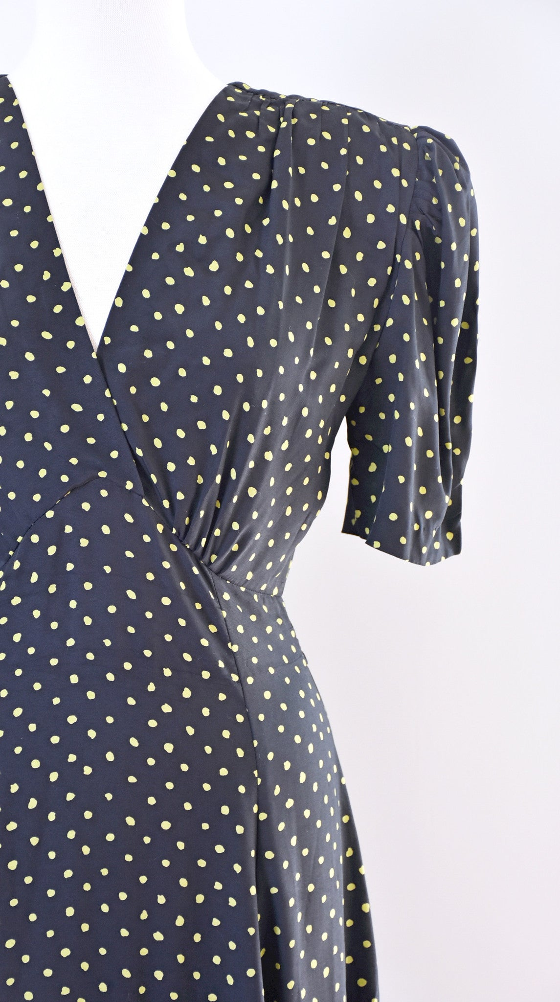 80s Polka Dot Rayon Dress