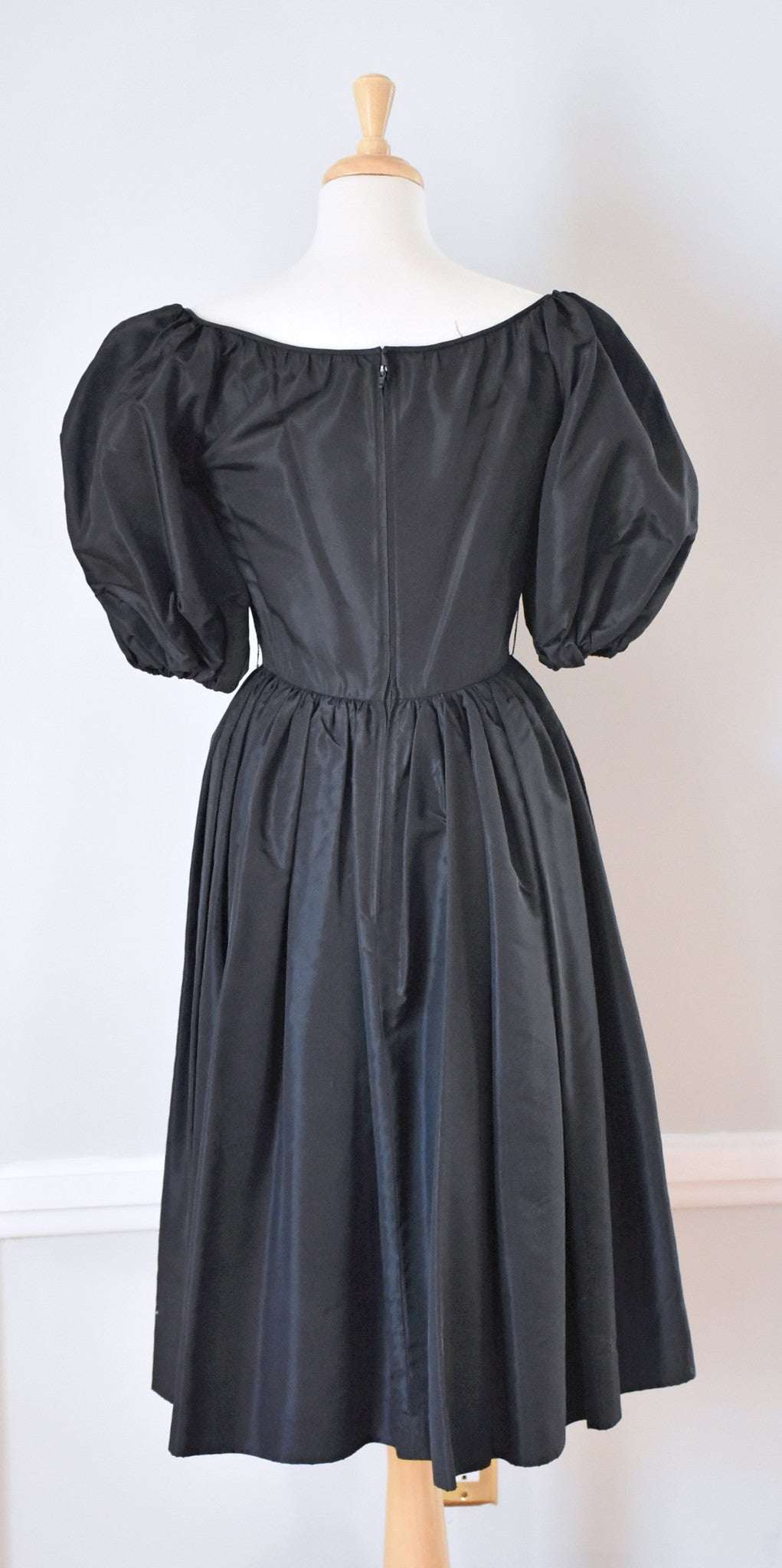 80s Albert Capraro Satin Dress