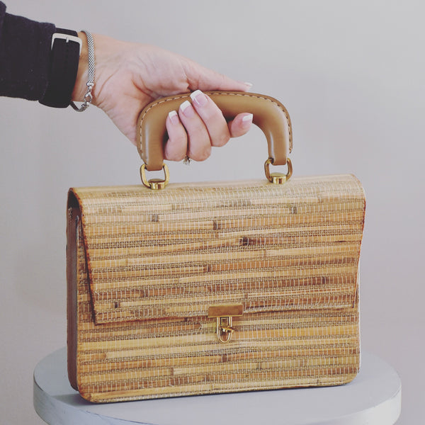 60s Bamboo and Plastic Handbag