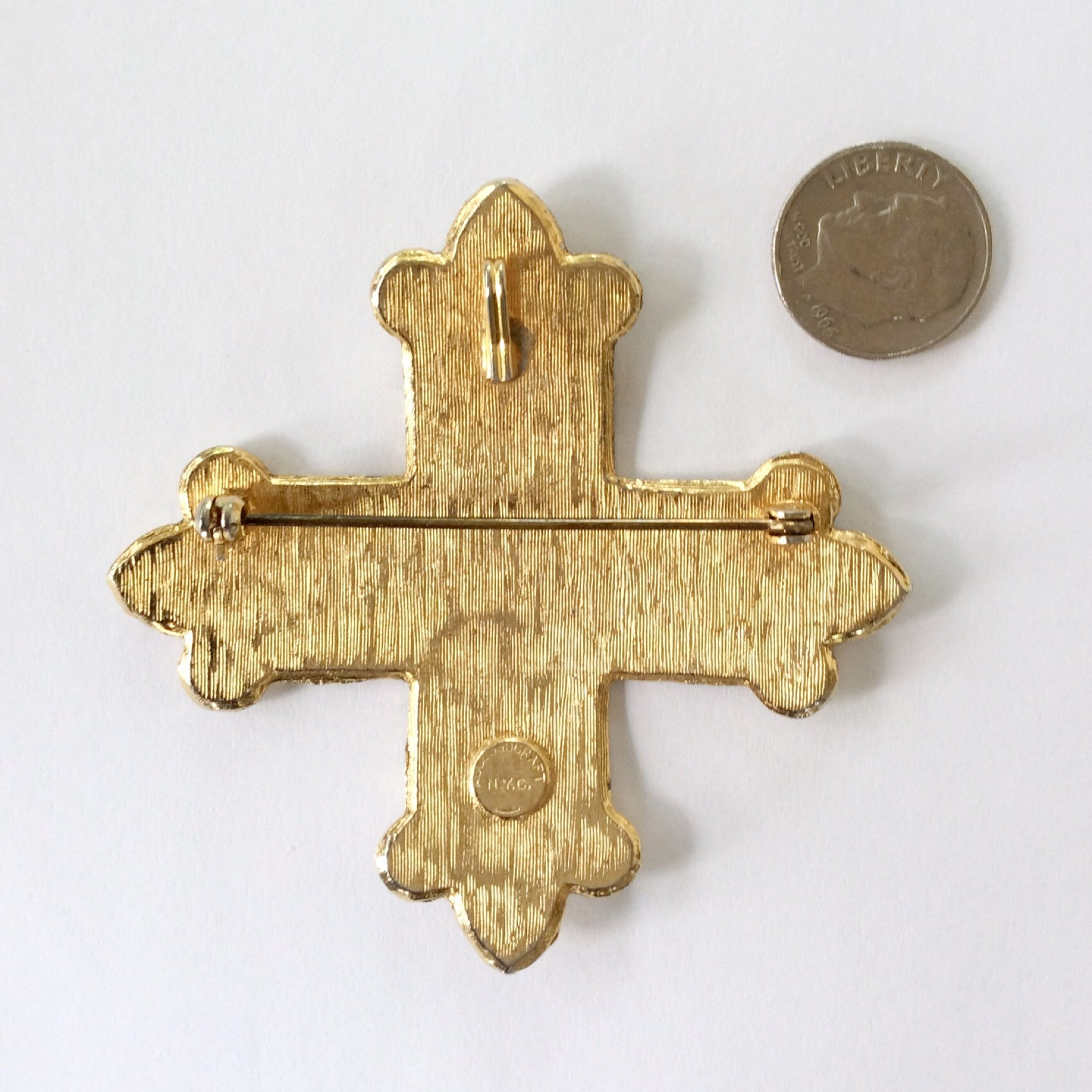 Accessocraft NYC Cross Brooch / Vintage Cross Brooch or Pendant