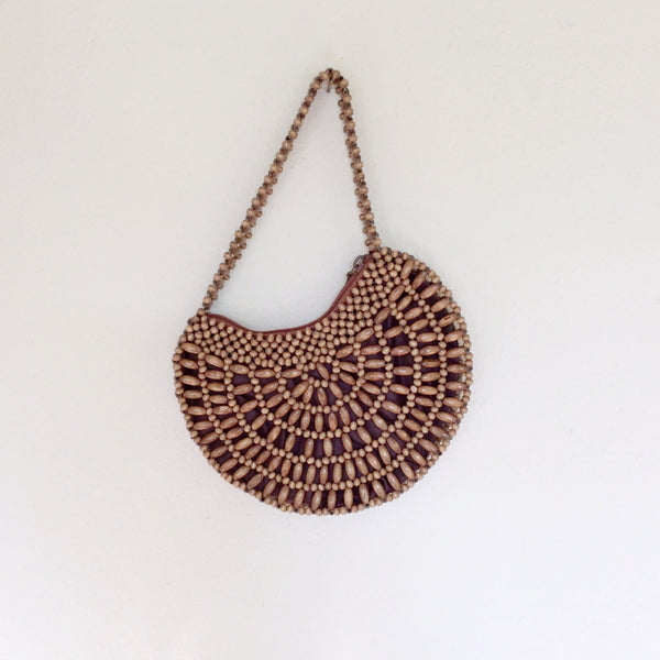 Crescent bead bag