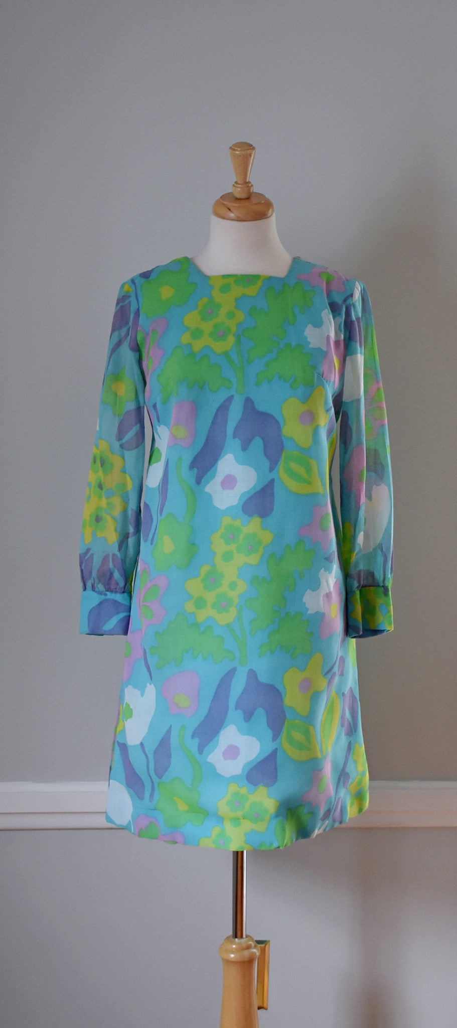 60s Mod Pastel Sheath Dress
