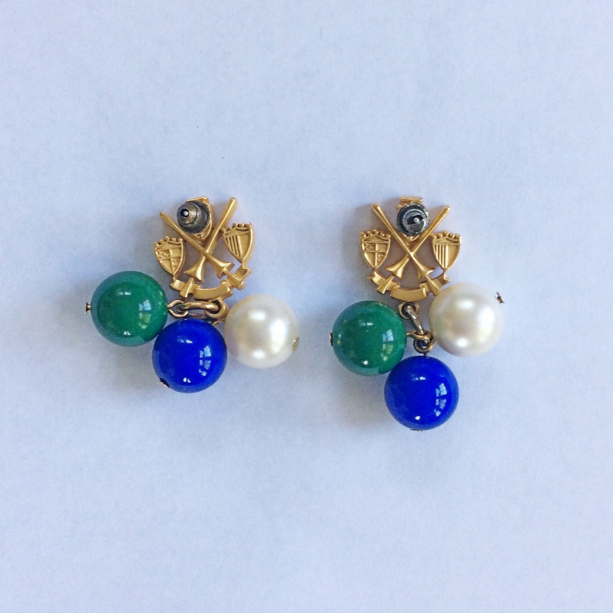 80s Coat of Arms Earrings
